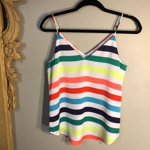 NWT - EXPRESS- Vibrant Stripe Cami, Fully Lined.